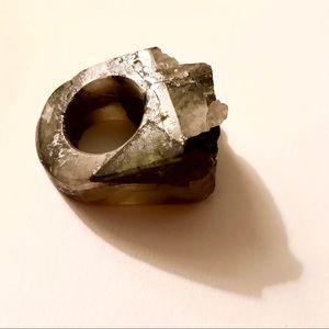 Genuine Cut Granite Statement Ring